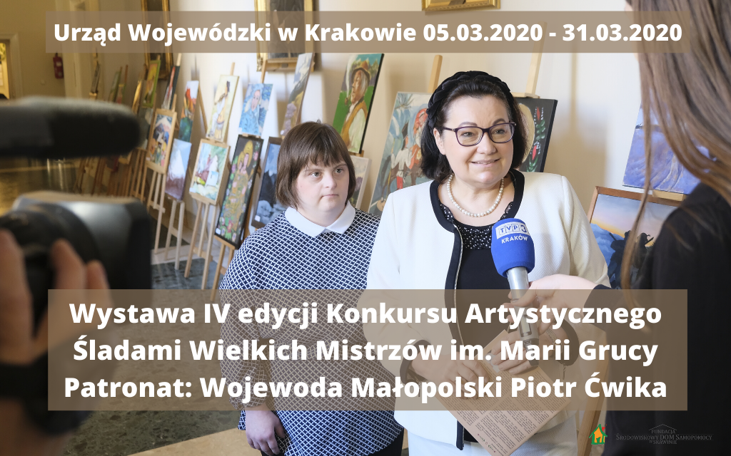 Wystawa IV Konkursu Artystycznego im. Marii Grucy w Urzędzie Wojewódzkim w Krakowie